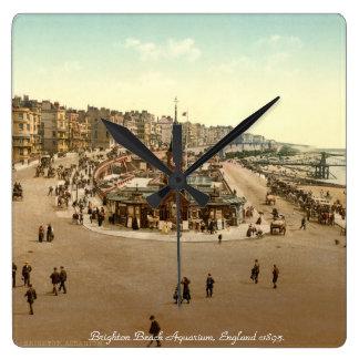 Vintage England clock, Brighton Beach Aquarium Square Wall Clock