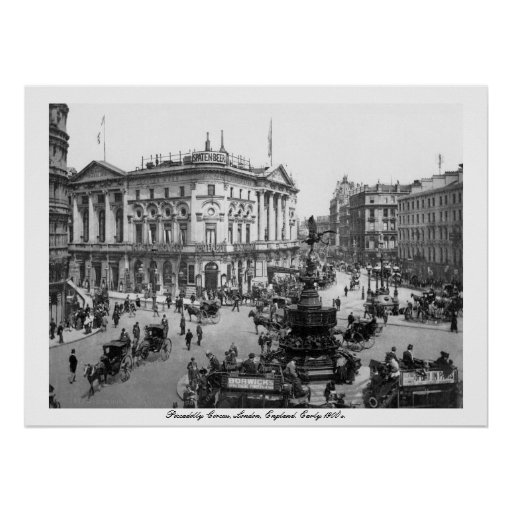 Vintage England, Piccadilly Circus London Poster