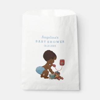 Vintage Ethnic Boy on Phone Baby Shower Favour Bags