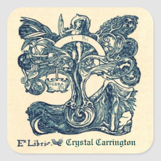 Vintage Ex Libris Bookplate Stickers