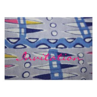 Vintage Fabric Graphic Design Invitation