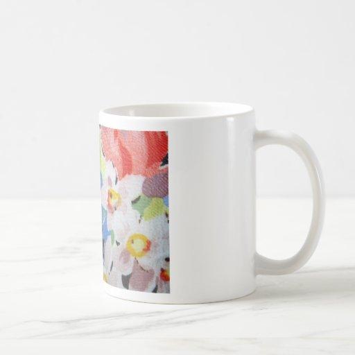 Vintage Fabric in Flower Pattern Mug