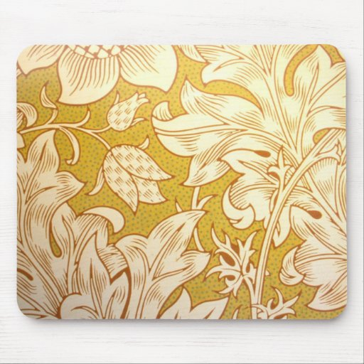 Vintage Fabric Mouse Pad