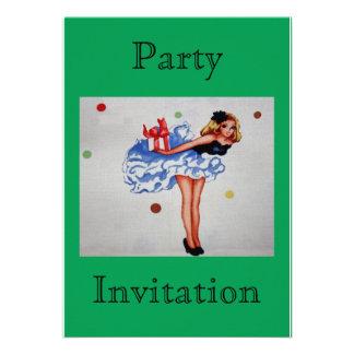 Vintage Fabric Party Invitation