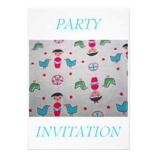 Vintage Fabric PARTY INVITATION Invitation