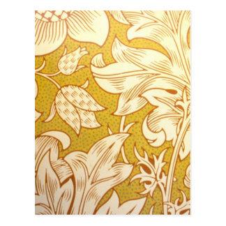 Vintage Fabric Post Card