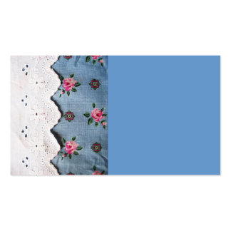 vintage fabrics business cards