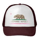 Vintage Fade California Republic Flag Mesh Hat