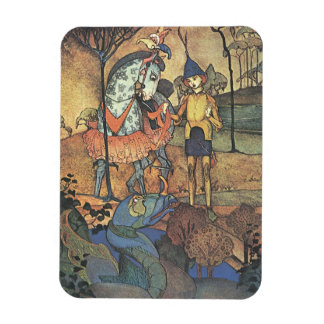 Vintage Fairy Tale, A Brave Knight and Dragon Magnet