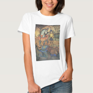 Vintage Fairy Tale, A Brave Knight and Dragon T-shirts