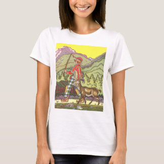 Vintage Fairy Tale, Boy and the North Wind, Hauman T-Shirt