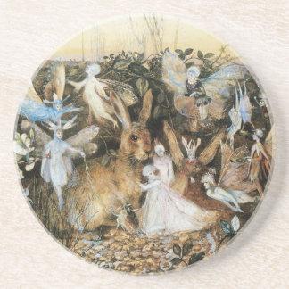 Vintage Fairy Tale Fairy Twilight, John Fitzgerald Coaster