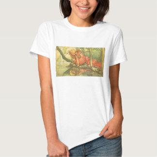 Vintage Fairy Tale, Frog Prince Princess by Pond Tee Shirts