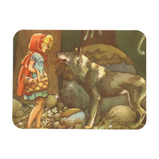 Vintage Fairy Tale, Little Red Riding Hood Magnet