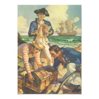 Vintage Fairy Tale Pirates, Treasure Island Custom Invites