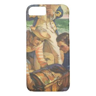 Vintage Fairy Tale Pirates, Treasure Island iPhone 7 Case