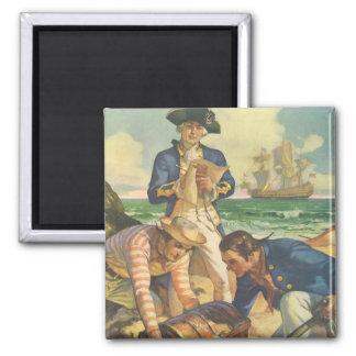 Vintage Fairy Tale Pirates, Treasure Island Magnet