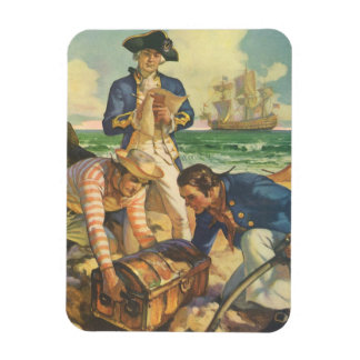 Vintage Fairy Tale Pirates, Treasure Island Rectangular Photo Magnet