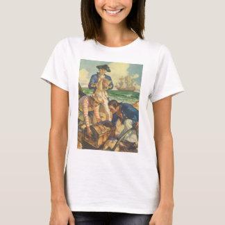 Vintage Fairy Tale Pirates, Treasure Island T-Shirt