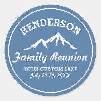 Vintage Family Reunion Trip Cool Mountain Peaks Round Sticker