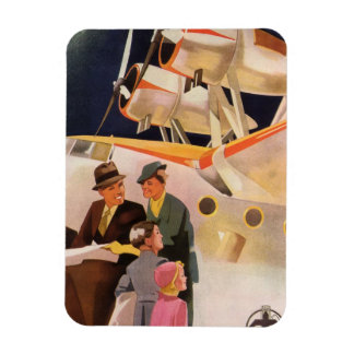 Vintage Family Vacation Via Seaplane w Propellers Magnet