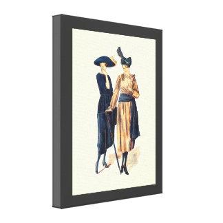 Vintage Fashion 1928, A stylish look Canvas Print