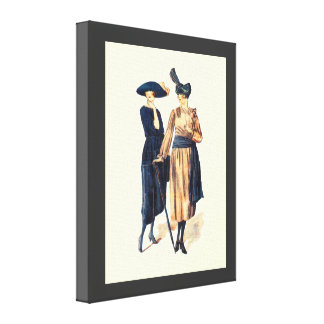 Vintage Fashion 1928, A stylish look Stretched Canvas Prints