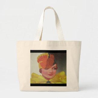 Vintage Fashion 1933 Large Tote Bag