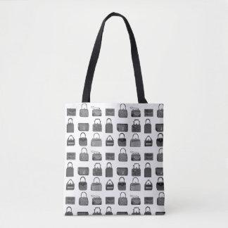 Vintage fashion handbag pattern tote bag