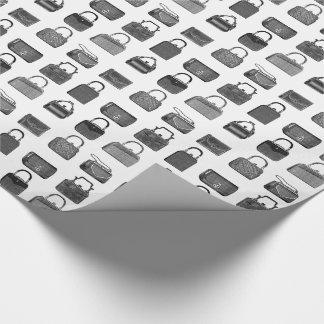 Vintage fashion wrapping paper w/ handbag pattern
