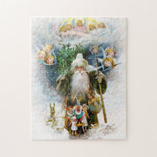Vintage Father Christmas Jigsaw Puzzle