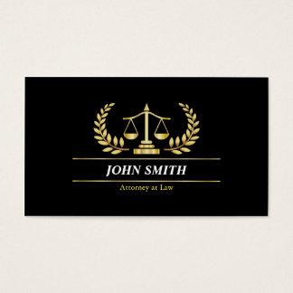 Vintage Faux Gold Libra Laurel Professional Lawyer Business Card