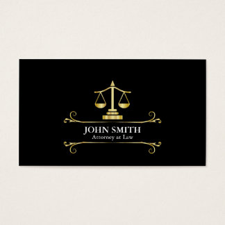 Vintage Faux Gold Libra Professional Attorney Business Card
