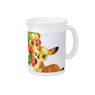 Vintage Fawns by Gumdrop Christmas Tree Pitcher