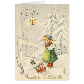 Vintage Finnish New Year Card
