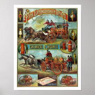 Vintage Fire Fighter Poster