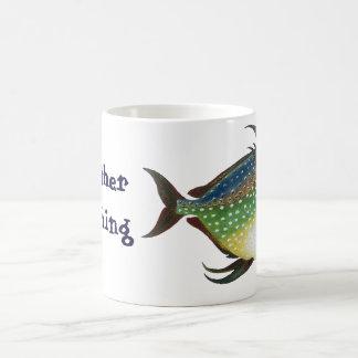 Vintage Fish, I'd Rather be Fishing Coffee Mug