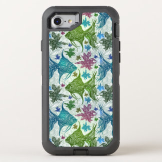 Vintage Fish Pattern OtterBox Defender iPhone 8/7 Case