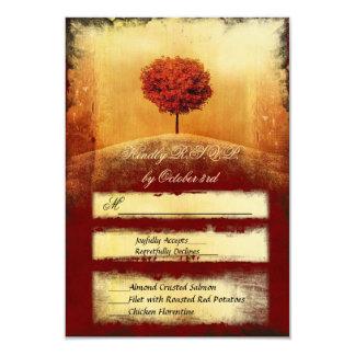 Vintage Flaming Tree Wedding Invitation