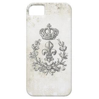 Vintage Fleur de Lis and Crown-iphone 5 case