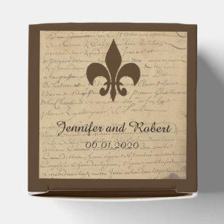 Vintage Fleur de Lis Love Letter Wedding Favor Box Party Favour Boxes