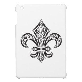 Vintage Fleur de Lis w/ Scrolls in Heraldry Style Cover For The iPad Mini