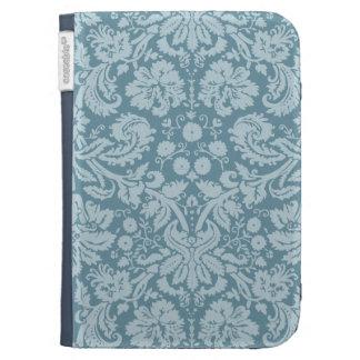 Vintage floral art nouveau blue green aqua pattern kindle keyboard covers