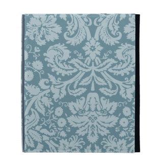Vintage floral art nouveau blue green aqua pattern iPad folio cases