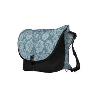 Vintage floral art nouveau blue green aqua pattern courier bags