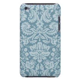 Vintage floral art nouveau blue green pattern iPod touch case