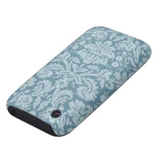 Vintage floral art nouveau blue green pattern iPhone 3 tough cases