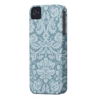 Vintage floral art nouveau blue green pattern iPhone 4 cases