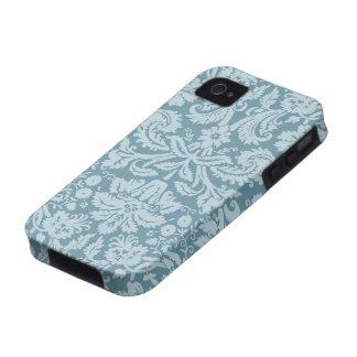 Vintage floral art nouveau blue green pattern vibe iPhone 4 cover