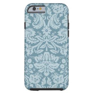 Vintage floral art nouveau blue green pattern tough iPhone 6 case